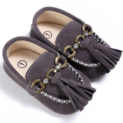 Baby Tassel Casual Shoes - Gray / 1