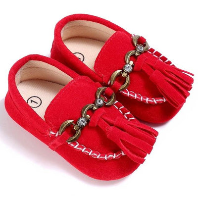 Baby Tassel Casual Shoes - Red / 1