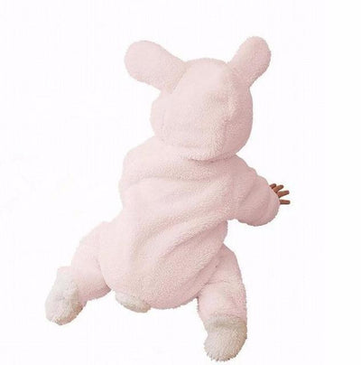 Grizzly Bear Fleece Romper - Pink / 3M