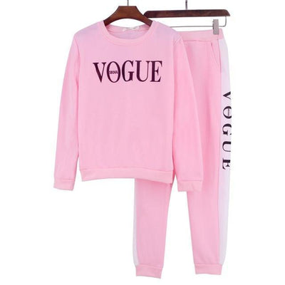 Vogue Tracksuit Set - Pink / S