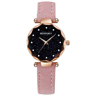 Women Starry Sky Watch - Pink