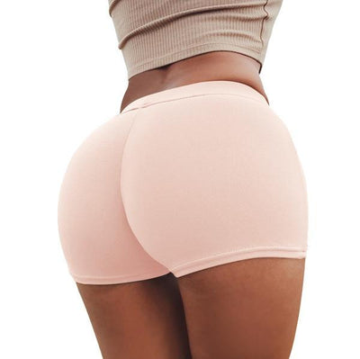 Push Up Yoga Shorts - Pink / S
