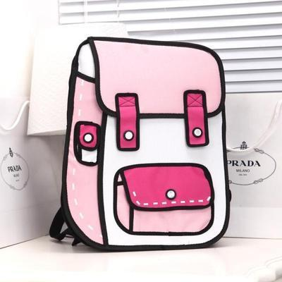2D Backpack - Pink