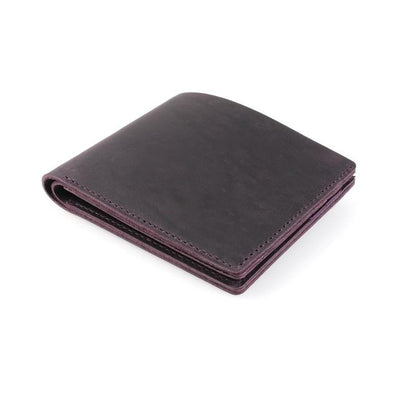 Vintage Leather Wallet - Purple