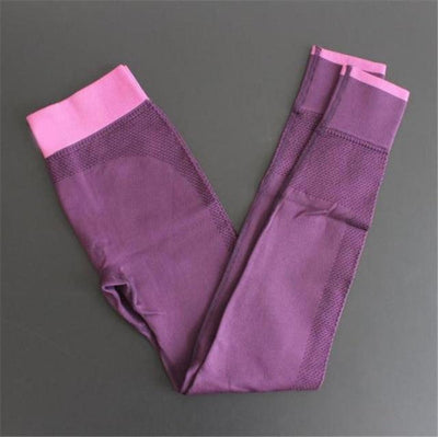 Push-up Elastic Leggings - Purple / S