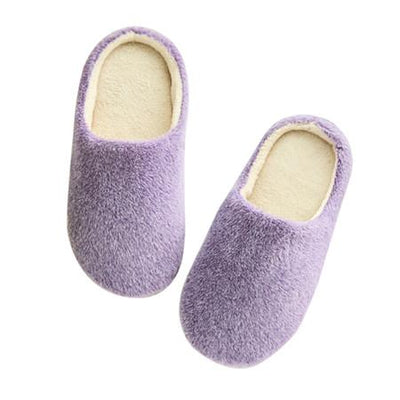 Candy Color Indoor Slippers - Purple / 36