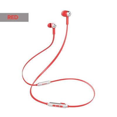 S06 Neckband Bluetooth Earphone - RED