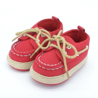 Unisex Baby Sneakers - Red / 1