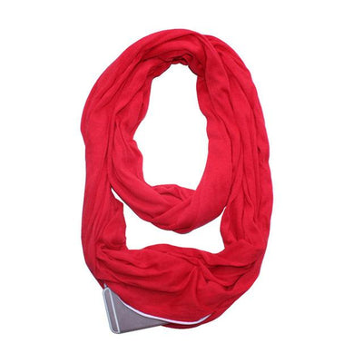 Convertible Pocket Scarf - Red