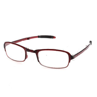 Unisex Folding Reading Glasses - +100 / Red