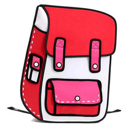 2D Backpack - Red