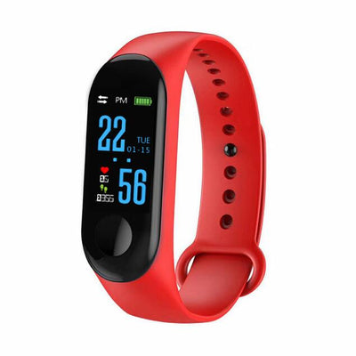 Electronics smartwatch with fitness tracker - Red