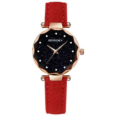 Women Starry Sky Watch - Red