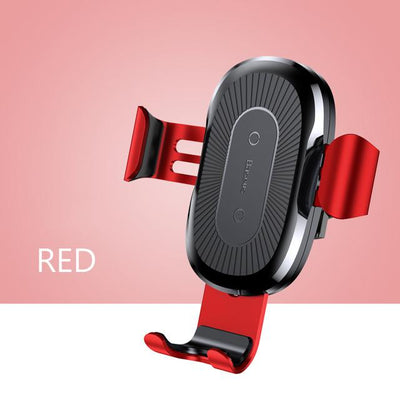 Wireless Charger Car Holder - Red