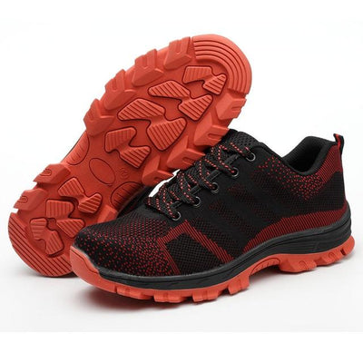 Bulletproof Mesh Safety Shoes - Red / 35