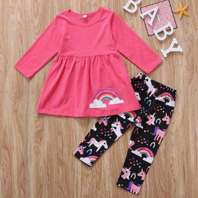 Unicorn 2-Piece Set - Red / 2T