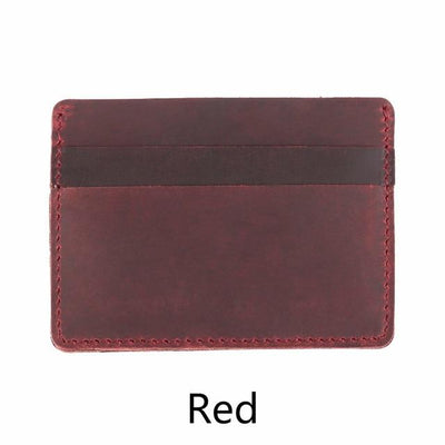 Men's Leather Card Holders - Red