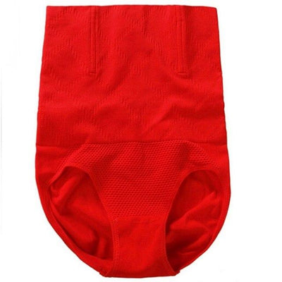 High-Waist Seamless Shapewear - Red / M