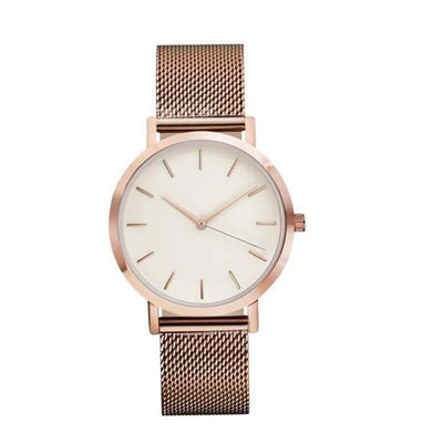 Women Crystal Stainless Steel Watch - Rose Pink