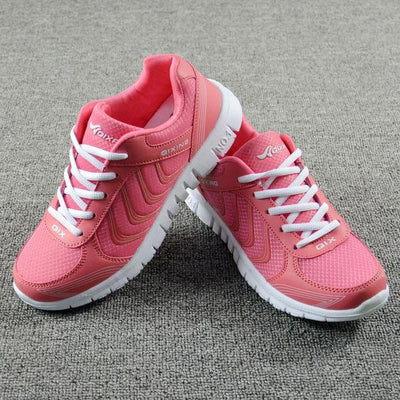Womens Tennis Sport Shoes - Rose / 4.5