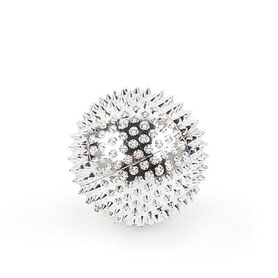 Spiky Ball Pressure Massager - Silver / S