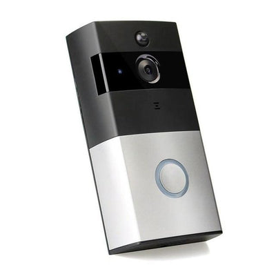 Home Security Wireless HD Night Vision and Motion Detection Doorbell - Silver
