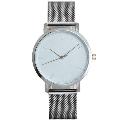 Mesh Strap Analog Quartz Watch - Silver