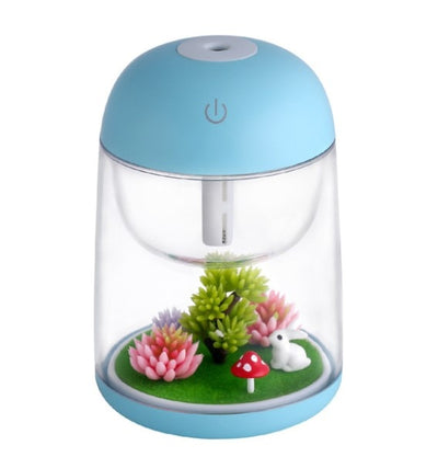 New Ultrasonic Air Humidifier with Aroma Lamp - Sky Blue