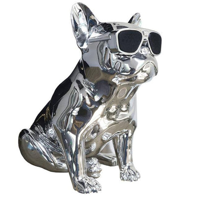 French Bulldog Speaker V2 - Sliver