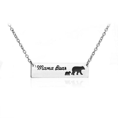 Mama Bear Silver Necklace