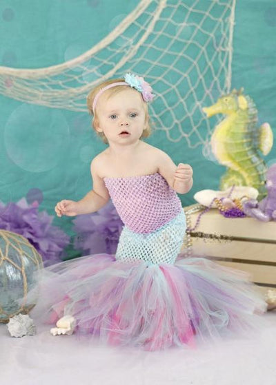 Strapless Mermaid Tutu Dress - Purple / 2T