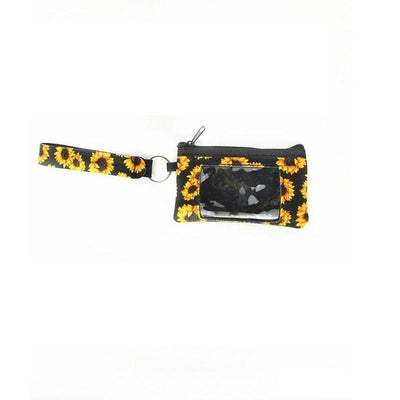 printed wallet for women (4pcs) - Sunflower