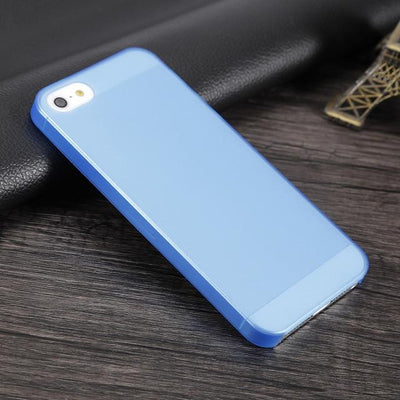 Shockproof iPhone Case - Transparent Blue / For iPhone 5 5S SE