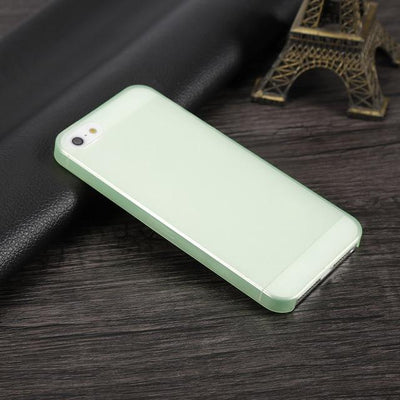 Shockproof iPhone Case - Transparent Green / For iPhone 5 5S SE