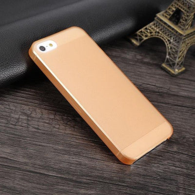 Shockproof iPhone Case - Transparent Orange / For iPhone 5 5S SE