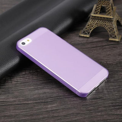 Shockproof iPhone Case - Transparent Purple / For iPhone 5 5S SE