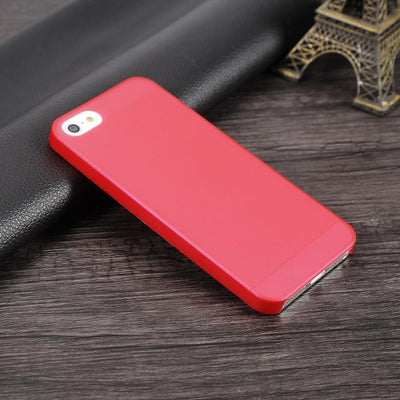 Shockproof iPhone Case - Transparent Red / For iPhone 5 5S SE