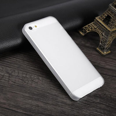 Shockproof iPhone Case - Transparent White / For iPhone 5 5S SE