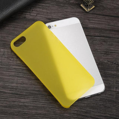 Shockproof iPhone Case - Transparent Yellow / For iPhone 5 5S SE