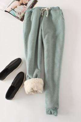 Candy Color Warm Jogger Pants - Turquoise / M