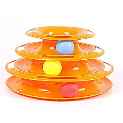 Rolling Ball Plate Toy for Cats - Orange