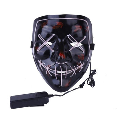 Purge Light-Up LED Mask - White