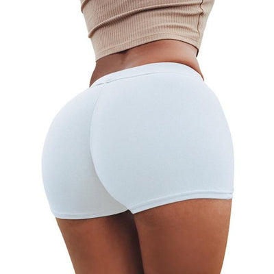 Push Up Yoga Shorts - White / S