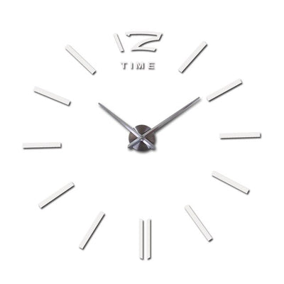 DIY 3d wall clock - White / 27inch