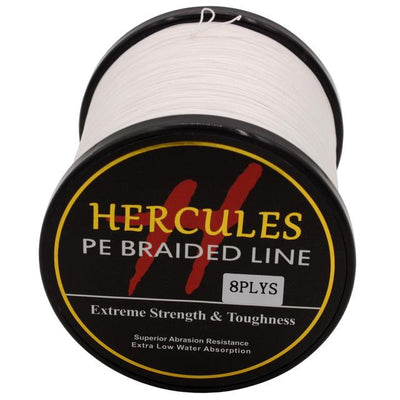 Colored Braided Fishing Line - White