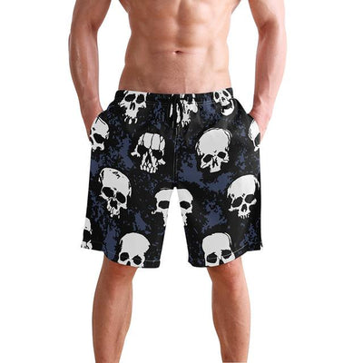 Skull Board Shorts - White / S