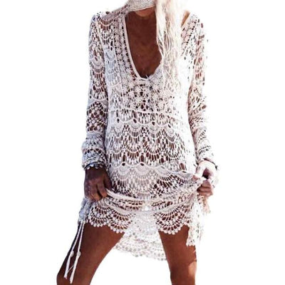 Sexy Crochet Cover-Ups - White