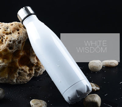 Double-Wall Insulated Stainless Steel Water Bottle - 350ml / White