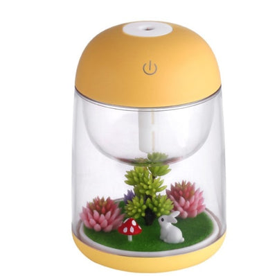 New Ultrasonic Air Humidifier with Aroma Lamp - Yellow