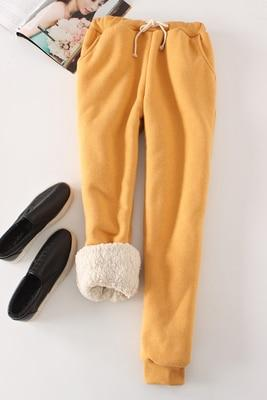 Candy Color Warm Jogger Pants - Yellow / M